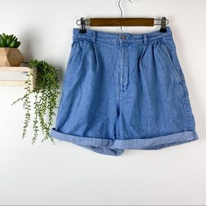 Talbots vintage high waist denim shorts size 6
